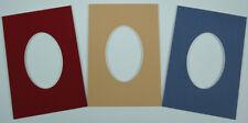 Passepartout ovaler oder runder Ausschnitt nach Maß alle Außenformate 30 Farben