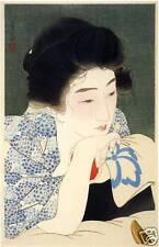 Japanese Art Print: Morning Hair - Kotondo Reproduction