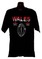 Il Galles Welsh Rugby Maglietta rhinestud Design qualsiasi dimensione S-XXXL