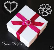 "50 1"" Heart Wedding Rhinestone Ribbon Invitation Buckle"