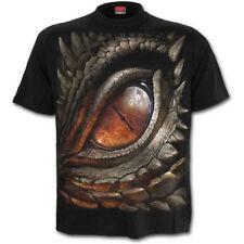 Spiral Direct DRAGON EYE Men's Short Sleeve T-Shirt, Rock, Biker, Mythical, Goth