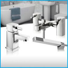 Moderne Chrome salle de bains évier Mono Mélangeur Lavabo Bain de remplissage douche mélangeur robinet Set