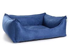 Dog Bed Suede Look Orthopedic Visco Dog Pillow Dog Sofa M-XL Blue