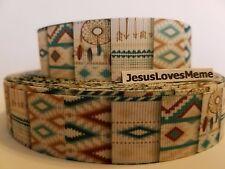 "Grosgrain Ribbon Aztec Design Dream Catchers Desert Colors Country Living, 1"""