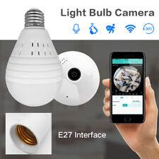 Ampoule Lampe Sans Fil Caméra IP Wifi 960 P Panoramique FishEye de Sécurité À Do