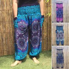Boho Harem Pantalon Yoga Festival Hippy Hippie Baggy M/L