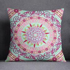 S4Sassy Housse de coussin carré  imprimé pour Mandala jeter taie d'oreiller vert