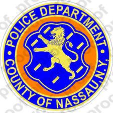STICKER Nassau New York Police Department