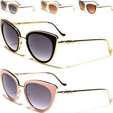 Nuevas Gafas de sol negras señoras Mujer Chica Diseñador Grande Ojo de Gato Grandes de estilo vintage y retro