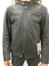 Chaqueta de piel hombre para moto con protecciones homologado leather jacket 55