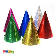 Set 10 pz Cappellino Cono in Cartoncino Glitter - Cappello Compleanno Capodanno