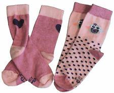 Ewers Mädchen 2er Pack Strümpfe Socken Söckchen Eule wildrose