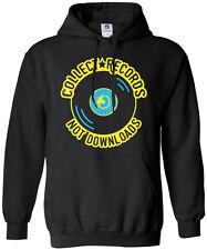 Collect Records Not Downloads Unisex Hoodie Sweatshirt Vinyl Music