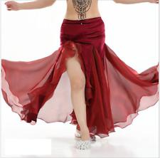 One Side Slit Velvet and Mesh Long Skirt Belly Dance Costumes Tight Hip Skirt