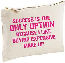 Success Is The Make Up Bag, Funny Gift Secret Santa Present For Women Friends