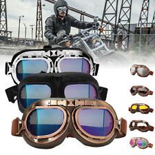 Vintage Retro Motorcycle UTV Helmet Aviator Pilot Goggles Flying Glasses Eyewear