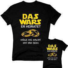 DAS WARS T-Shirt Herren Junggesellenabschied Hochzeit JGA Trauzeuge