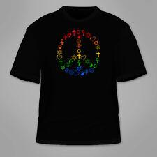 Peace Symbols T-Shirt. Peaceful Coexist Hippie Hippy TShirt Freedom Equality