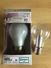 PACK OF 2 - 5 Watt LED GLS Normal Bulb Shape - ES Clear & BC Pearl Finish