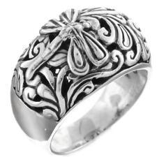 Dragonfly Scroll Filigree Bali Handmade 925 Sterling Silver Ring