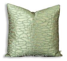 Zinc Wallis Luxury Designer Beige Gold Fabric Cushion Cover Throw Pillow