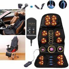 Heated Massage Seat Cushion Car Chair Massager Lumbar Neck Massager Vibration