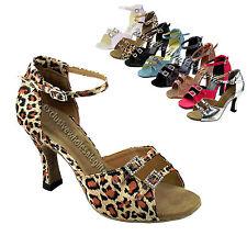 Women's Salsa Ballroom Tango Multicolored Dance Shoes 2.5 / 3