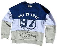 ZADIG & VOLTAIRE Sweatshirt Sweater Bleu Gris 128 134 140 146 152 158 170 176