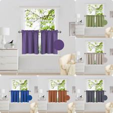 "Kitchen Rod Pocket Tier Window Curtain Panels Insulated Foam 1 PAIR 30""x24"" R16"