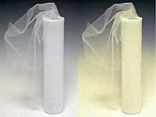 TULLE NETTING SOFT FABRIC - WHITE CREAM - 300cm EXTRA WIDE - PER METRE
