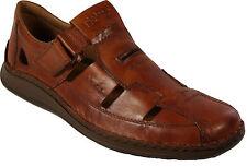 RIEKER Schuhe modische Sandale Freizeitsandalen echt Leder braun  NEU