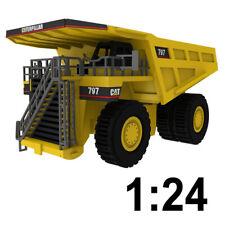 1:24 Large Scale Caterpillar 797 Dump Truck Wooden Model, Heavy Cat, Great Gift