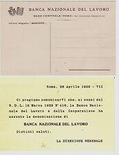 #ROMA- Testatina- BANCA NAZIONALE DEL LAVORO