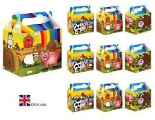 FARM ANIMAL PARTY BOXES Kids Farmyard Themed Birthday Bags Favors Box Gift UK