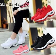 Womens Casual Rocker Sole Air Cushion Shoes Hollow Sports Mesh Platform Sneakers