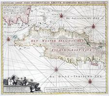 Reproduction carte ancienne - Java partie ouest (Indonésie) vers 1790