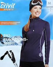 Damen Skifunktionsshirt S M L Funktionsshirt Shirt Pullover Winter Langarm NEU