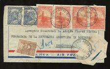 ARGENTINA 1937 registrati diplomatico ministero agricoltura 7 TIMBRO franking per GB