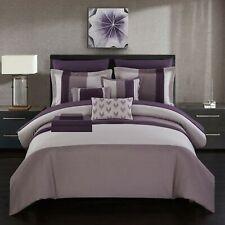 Moriarty 10 Piece Comforter Bed in a Bag Decorative Pillows Shams Plum