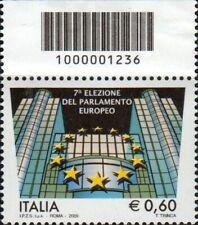 2009 francobollo Elezione del Parlamento Europeo CON CODICE A BARRE 1236