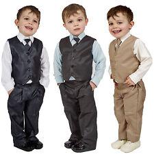 Chicos Trajes De 4 Piezas Chaleco traje de bodas página Boy Baby Formal Fiesta 3 Colores