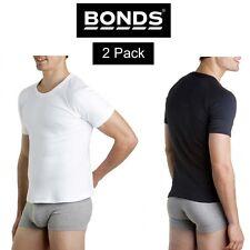 Mens Bonds Original Raglan Crew Neck 2 Pack Tee T-Shirt Short Sleeve Top M9372W