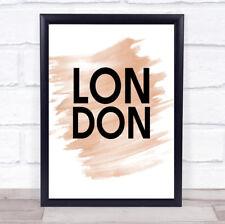 Watercolour London Quote Print