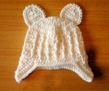 Handmade Hand Crocheted Unisex Baby Cable Hat/Helmet + Ears  Acrylic var colours