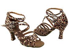 Latin Salsa Tango Very Fine Competitive Ballroom Dance Shoes Leopard Print