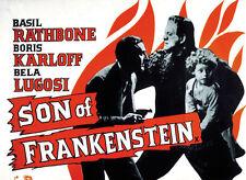 Son of Frankenstein (1939) Bela Lugosi Boris Karloff Horror movie poster 6