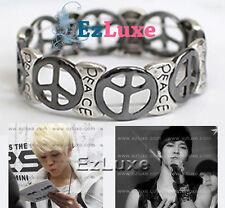 Korean band BEAST B2ST Peace Sign Elastic Band Bracelet Anti-War Teentop Bigbang
