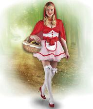 Damen Kostüm Rotkäppchen Red Riding Hood rot weiß Karneval Märchen costume 40/42