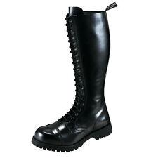 Boots and Braces 20-Loch Springer Stiefel Gothic Rangers Schwarz mit Stahlkappe