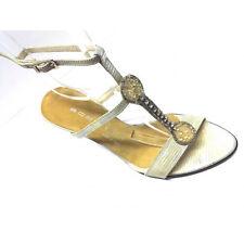 Scardavi Sandalo Donna Gioiello Tacco 90 metallo cinturino caviglia beige pelle